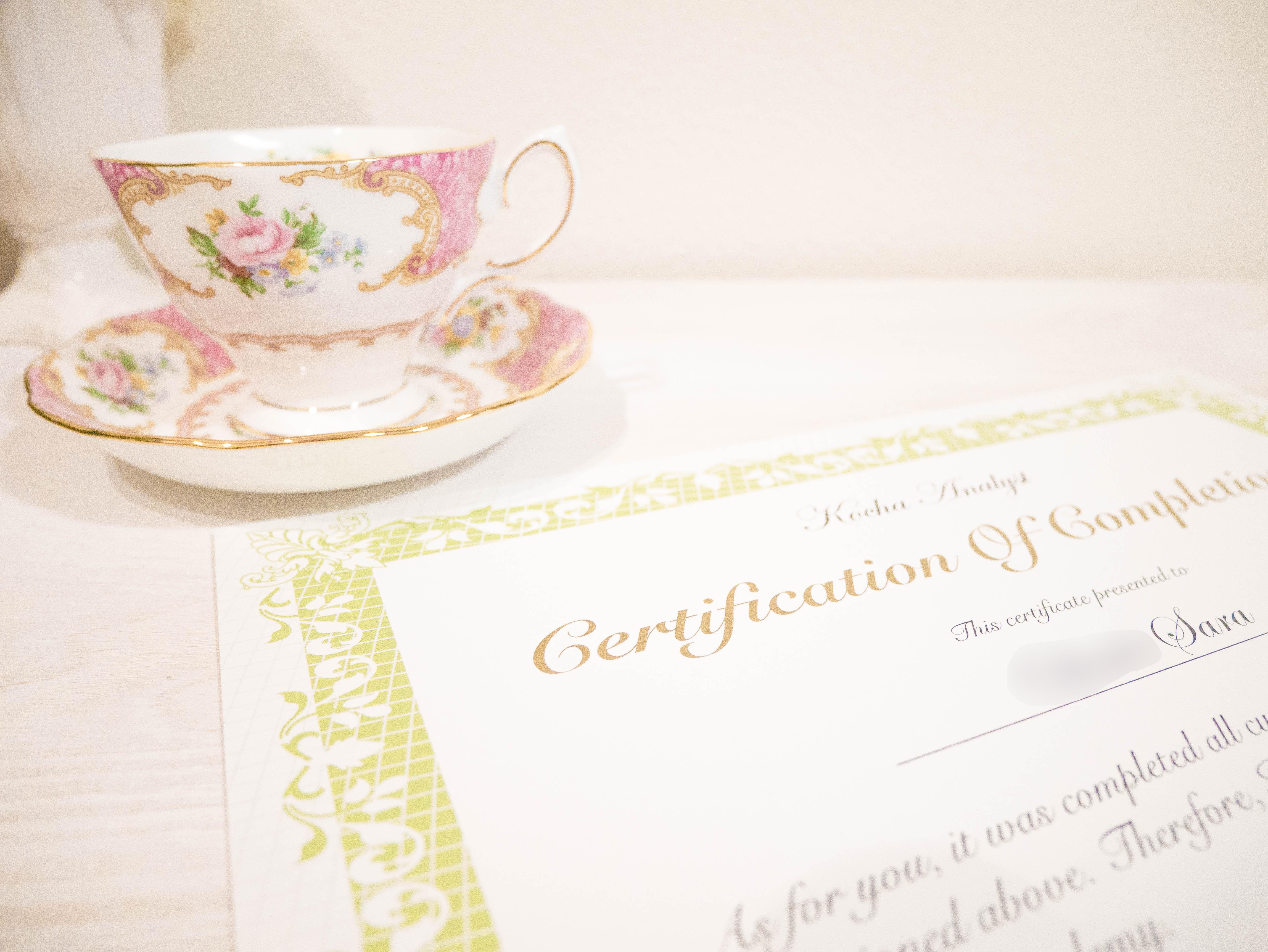 紅茶の資格を通信で取りたい人におすすめ!formieの紅茶アナリストに合格しました!